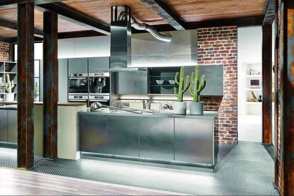 kitchens industrial metal