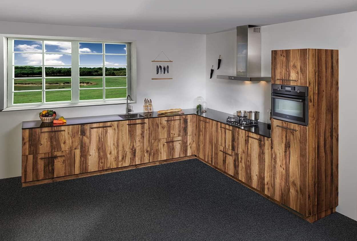 Exclusieve houten keuken