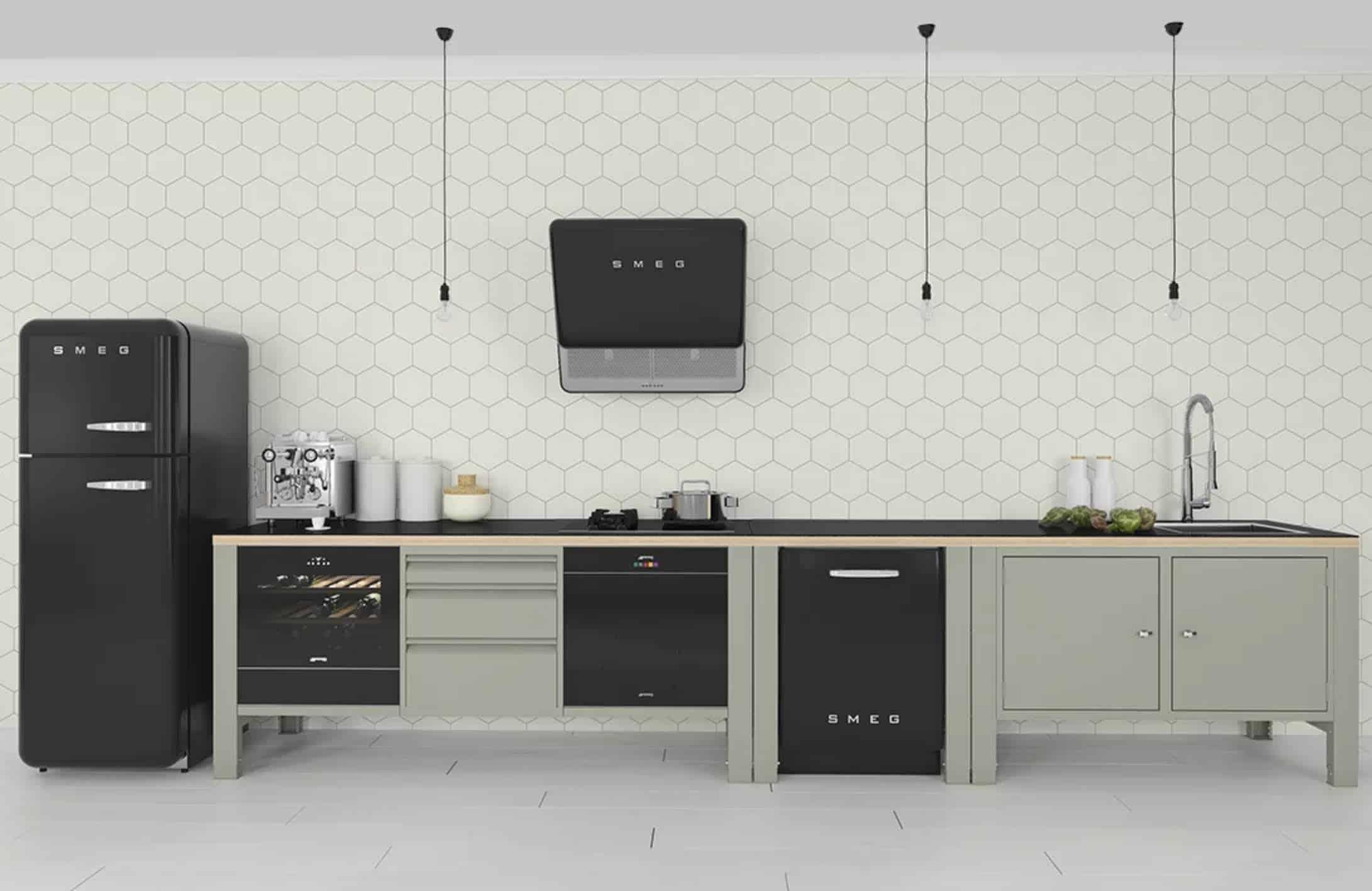 Stalen module keuken